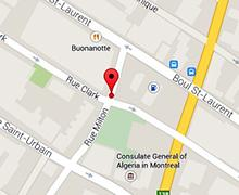 Google Map of Montreal Office