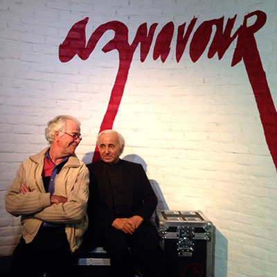 Jehan Valiquet with Charles Aznavour