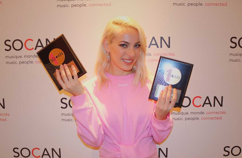 Marie-Mai earns two SOCAN No. 1 Song Awards