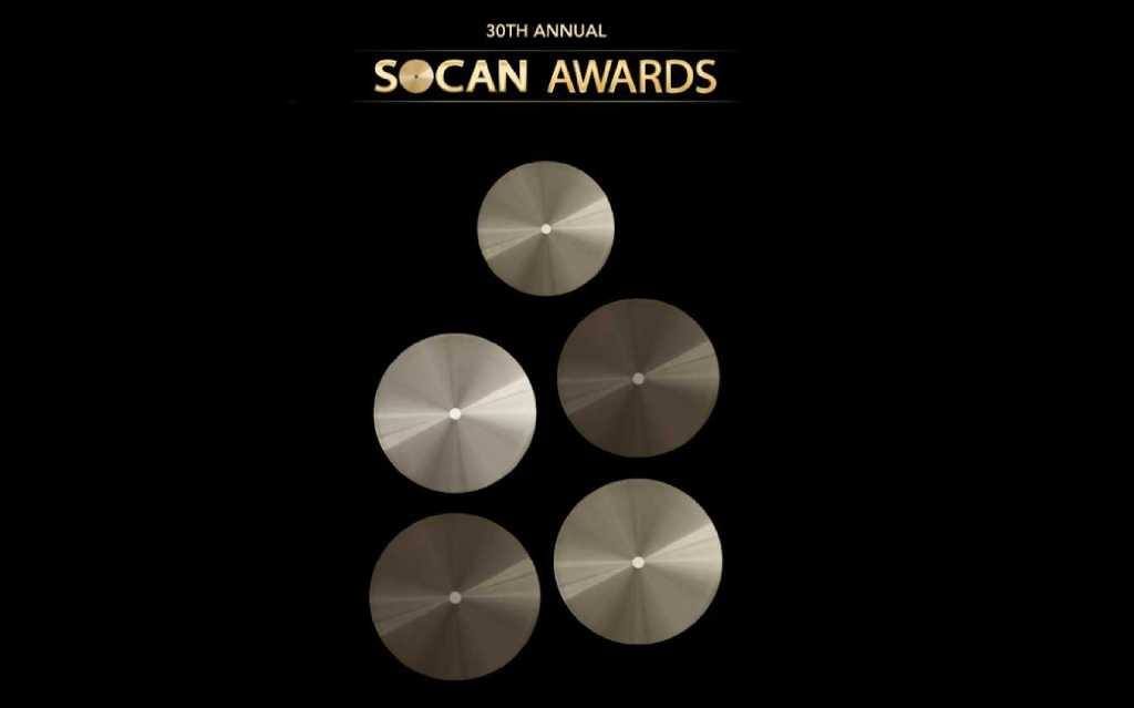 Submit now for SOCAN Publisher of the Year Award
