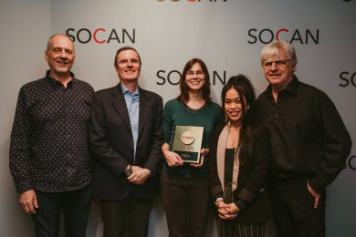 Jocelyn Morlock, SOCAN, Michael McCarty, Eric Baptiste, Racquel Villagante, Ed Hendersen