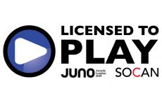 JUNO Week 2019 designated Licensed To Play by SOCAN
