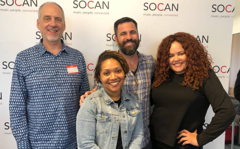 "SOCAN holds meeting, live WebEx ""Mic Drop,"" for our #ComposersWhoScore"