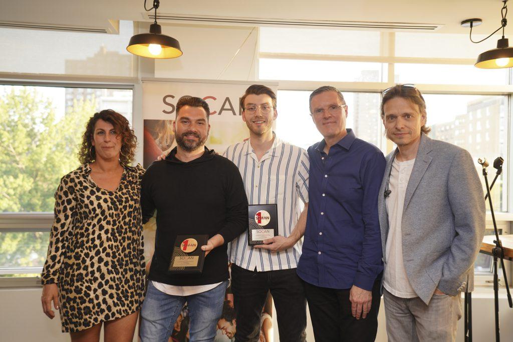 Nathalie Gagné, Domenic Pandolfo, Carl Sylvestre, Eric Baptiste, Marc Ouellette, SOCAN