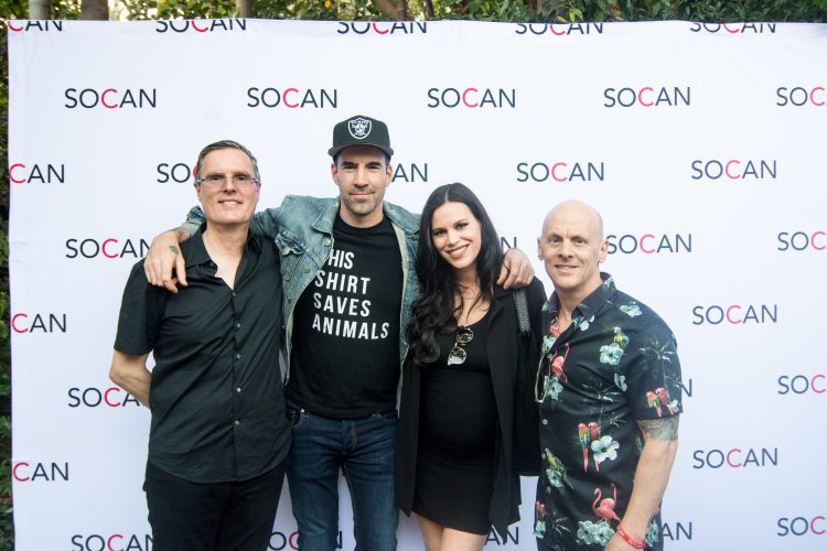 Eric Baptiste, Tyler Connolly, Christine Connolly, Rodney Murphy, SOCAN, Los Angeles, L.A., Canada Day, 2019