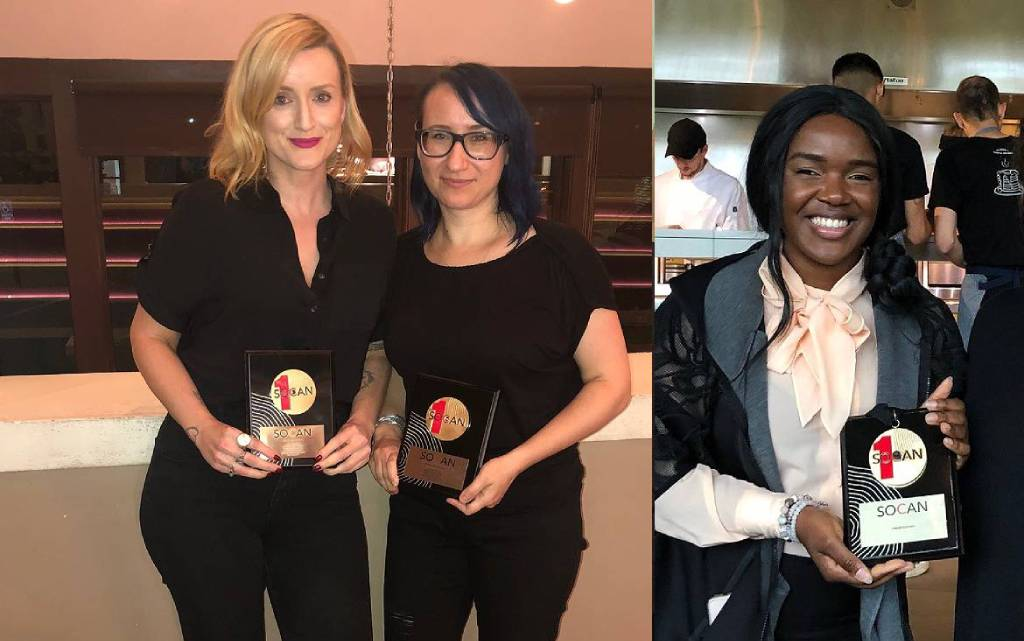 SOCAN presents No. 1 Song Awards to three chart-toppers in four days