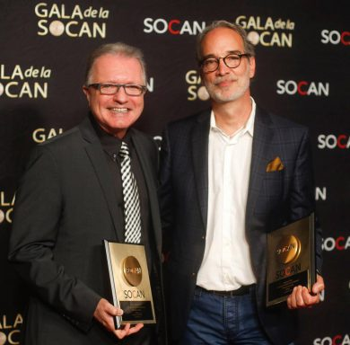 Gilles Godard, Raymond Fabi, SOCAN, Awards, Montreal, 2019