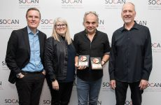 Nelson Minville earns two SOCAN No. 1 Song Awards