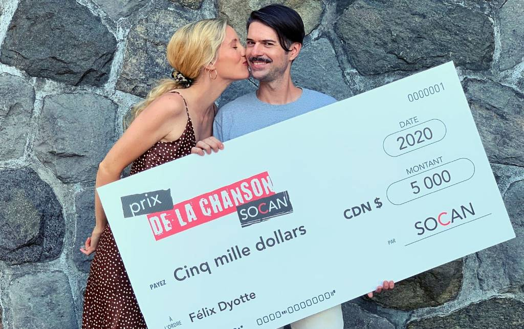 Prix de la chanson SOCAN : Félix Dyotte accepts his $5,000 prize
